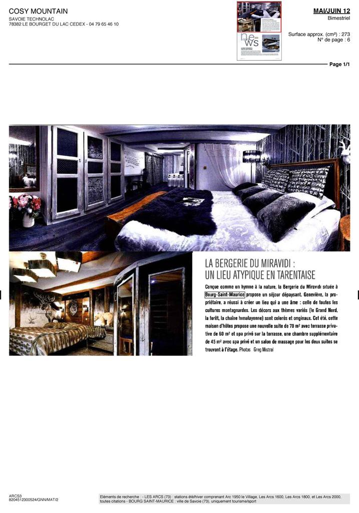 La presse en parle bergerie du miravidi chambre d - Chambres d hotes bourg saint maurice ...